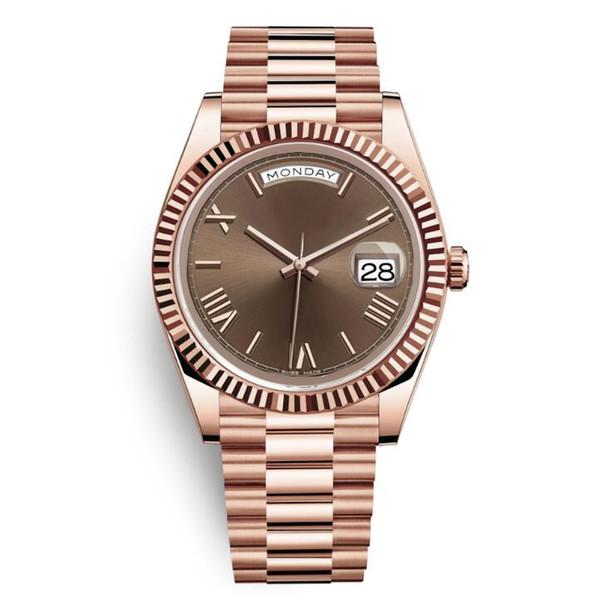Daydate yellow ro e gold watch men women luxury watch day date pre ident automatic de igner watche mechanical roma dial wri twatch reloj