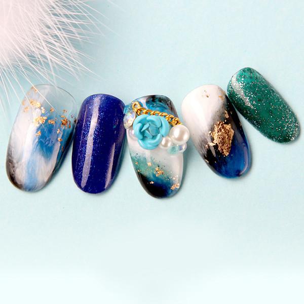 Accessoires pour ongles Ongles Accessoires Photothérapie Colle à l'huile Huile Collante Perceuse Rose Fleur Perle Mixte Manucure Art Décorations