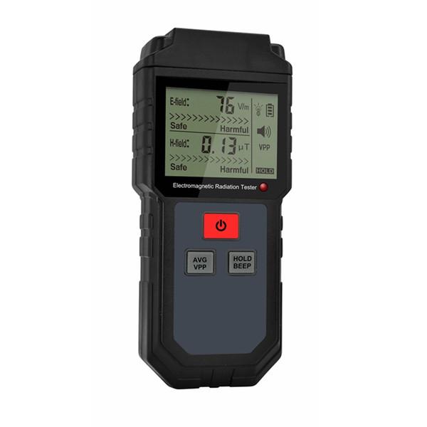 Dijital Elektromanyetik Radyasyon Dedektörü Sensörü LCD Göstergesi Veri Kilidi EMF Metre Elektrikli Manyetik Alan Frekans Cihazı