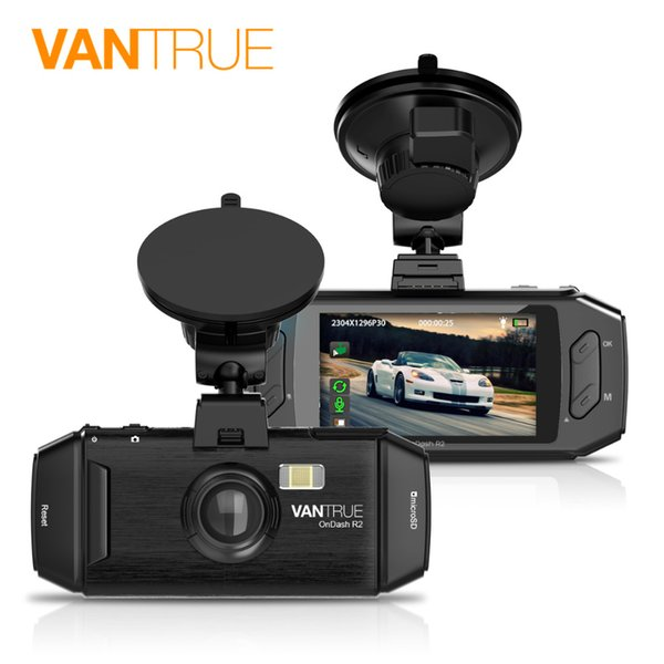 Vantrue R2 Dash Cam - 2K (2560X1080P) Full HD 2.7'' LCD Car DVR Car Camera with WDR, Parking Mode & Superior Night Vision
