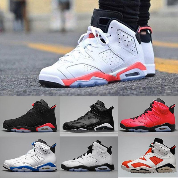 air jordan retro 6 blanc rouge noir