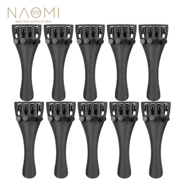 NAOMI Carbon Fiber Tailpiece 10PCS Violin Carbon Fiber Tailpiece W/4 Tuners 3/4 Violin Parts & Accessories New