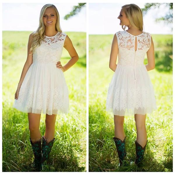 Lace Top A-Line Short Junior Bridesmaids Dresses 2019 Tulle Formal Vestidos De Honor Of Maid Cheap Bridesmaids Prom Party Gowns