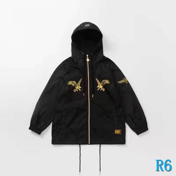 Mens Designer Jacket com capuz Moda Marca Corredores revestimento do revestimento para as Mulheres Homens Esporte jaqueta corta-vento de luxo Águia Zipper Imprimir WholesaleR6