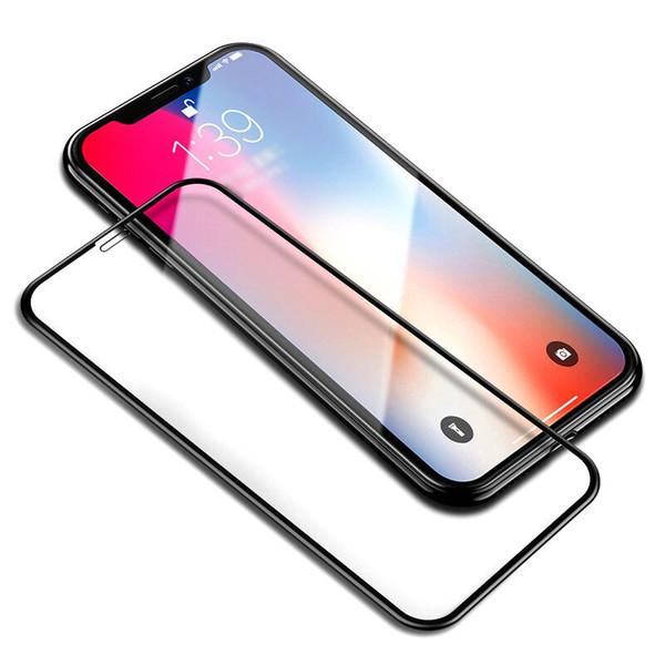 Para Iphone X Cristal templado Protector de pantalla 6D Touch Edge 9H Dureza Anti-scratch Shield Pantalla de cristal completa para Iphone X 8 7 6 más