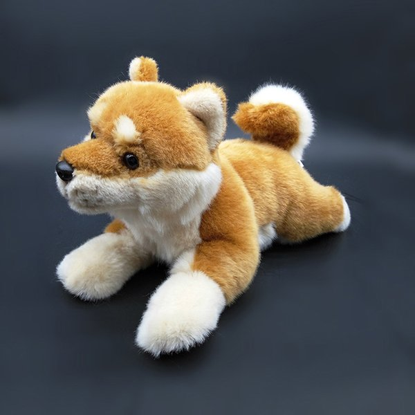 28cm Japanese Shiba Inu Plush Toys Kawaii Simulation Yellow Dog Stuffed Animal Dolls Soft Toys For Children Gifts