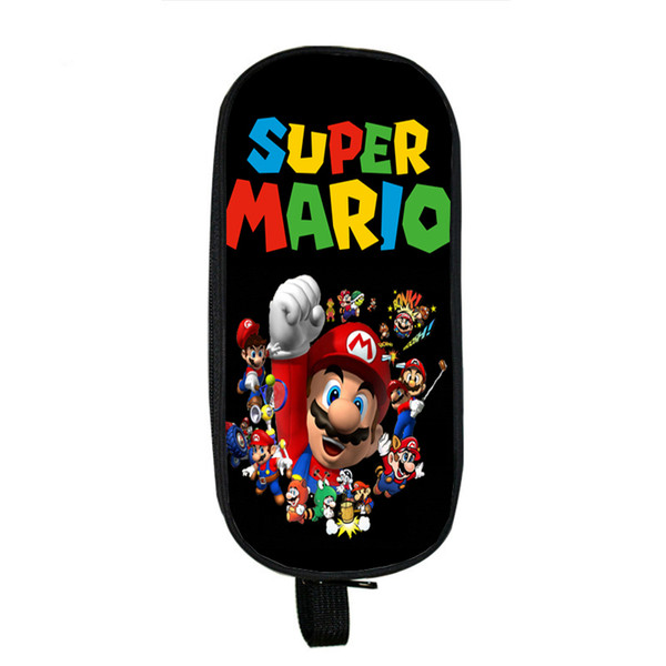 Cartoon Super Mario Double Layer Pen Bag Children Boys Girls Students Stationery Bag New Kids Gifts Pencil Case Fashion