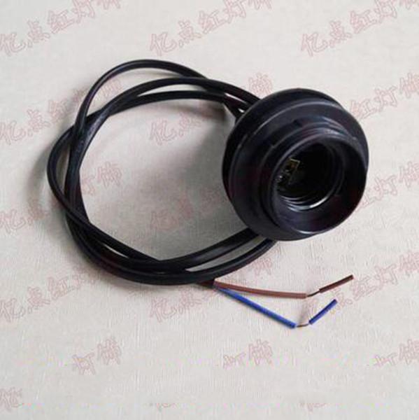 الأسود E27 حلقة مزدوجة الإصدار