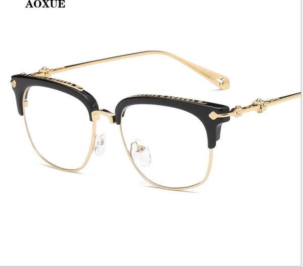 Monture de lunettes Hommes et femmes monture de lunettes myopie Miroir plat Fashion