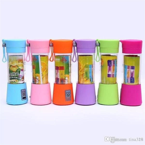 Licuadora personal Blender Portátil USB Juicer Cup Botella Juicer Eléctrica Fruta Vegetal Herramientas 7 Color T2I132
