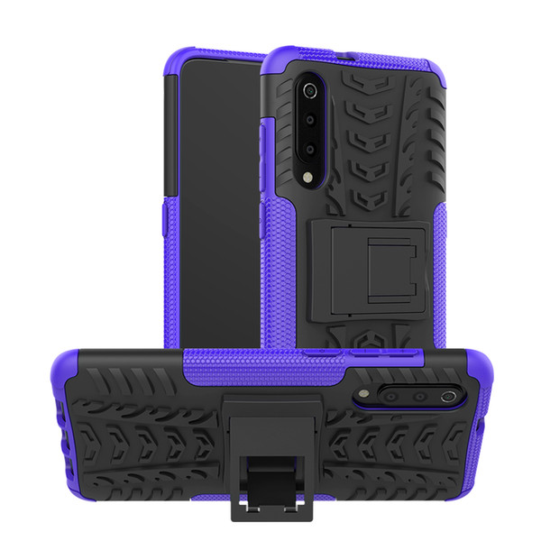 Hybrid Kickstand Rugged Rubber Armor Hard PC+TPU 2 In 1 Back Case Stand For Xiaomi MI 9 For Redmi Note 7