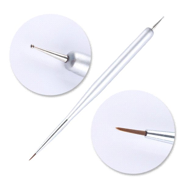 NICOLE DIARY Dual-ended Dotting Pen Drawing Brush Rhinestone Studs Picker Wax Pencil Crystal Beads Handle Nail Art Tool
