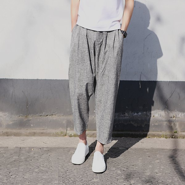 Zeeshant Brand Casual Harem Pants Men Linen Trousers Male Chinese Traditional 2019 Summer Clothes 4XL Urban Clothing For Men