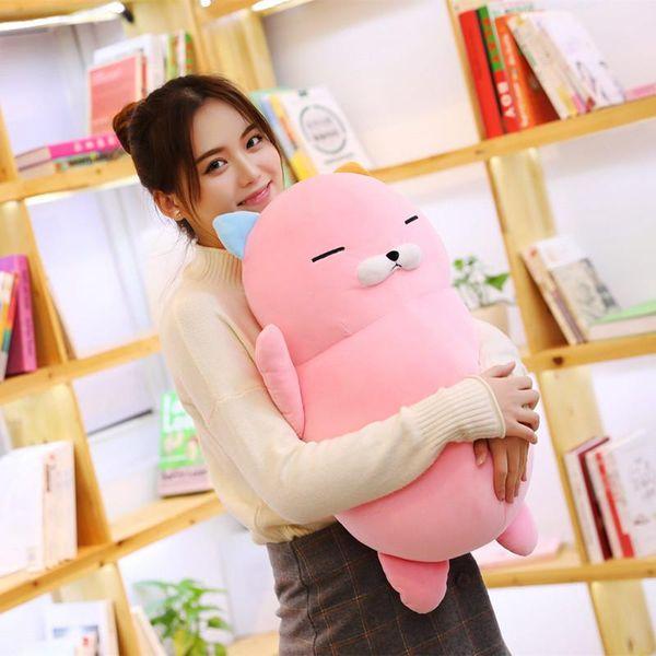 1pc 60cm Gigante Kawaii Gatto Farcito Neonato Plush Doll Letto Cuscino Kid Regalo di compleanno di alta qualità