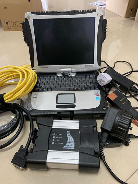 Per Bmw ista d ista p icom Strumento diagnostico professionale obd2 per bmw icom next con Laptop cf-19 Installato 2019.7 icom SSD