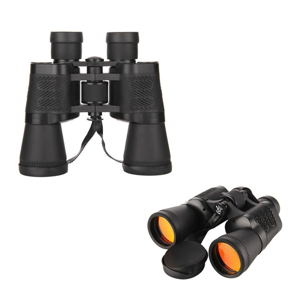 FIRECLUB 10X50 HD Binoculars Red Eyepieces High Power Outdoor Travel Telescope Portable Binoculars