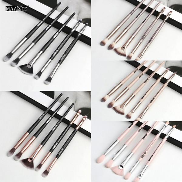 MAANGE 6pcs Makeup Brushes Set Pro Powder Eyeshadow Eyeliner Eye brow Blend Concealer Shading Make Up Brush Cosmetic Tool Kit
