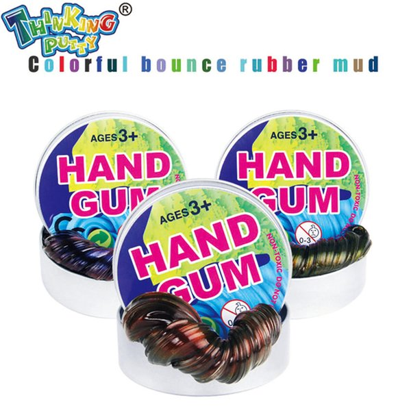 Pensando Putty DIY Descoloração Plasticine Criativo Starry Mão Goma Colorful Slime Bobo Luz Brilhante Argila Fimo Brinquedos Presentes para Crianças