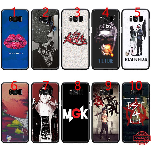 Machine Gun Kelly Soft Black TPU Phone Case for Samsung Note 9 8 S8 S9 Plus S6 S7 Edge Cover
