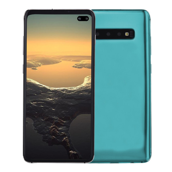 "Cheap 3G WCDMA Goophone S10+ V3 1GB 4GB+32GB Android 9.0 6.4"" Punch-hole Full Screen 1440*720 HD+ In-display Fingerprint Face ID Smartphone"