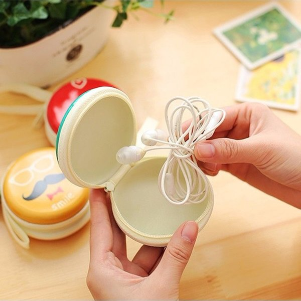Cartoon Cable Organizer Boxes Zip Lock Eva Coin Earphone Wire Storage Box Data Line Cables Storage Container Case