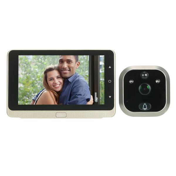 Inalámbrico Digital Peephole Door Viewer 5 Monitor Lente Gran Angular Puerta Ojo Timbre Cámara IR Visión nocturna Foto / Audio Video