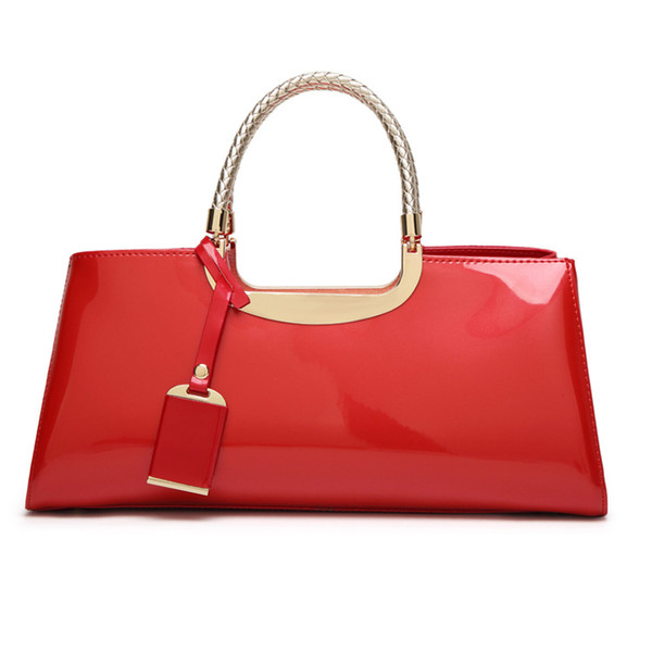 W&M Patent Leather Totes Fashion PU Leather Handbag for Women 2019 New Girl Messenger Bags Female Shoulder Bags Ladies Party