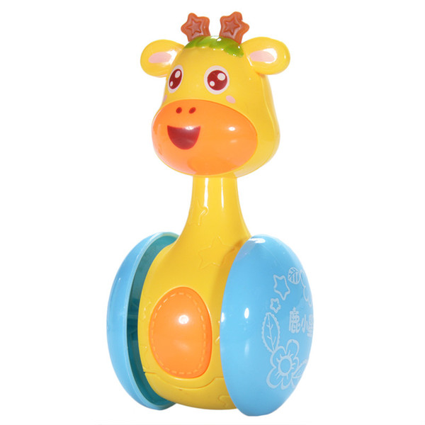 Cartoon Giraffe Tumbler Doll Roly Poly Baby Toys Cute Rattles Ring Bell Newborns 3 to 12 Month Early Educational Toy