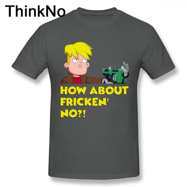 Homens Capitão Gary Camiseta 100% Algodão Tee Final Espaço T Shirt Mooncake T Shirt Plus Szie Agradável Curto-Manga