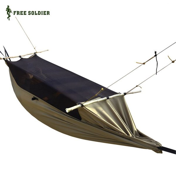 Acheter SOLDAT SOLDAT Hamac Tente Avec Moustiquaire Anti Moustique Portable  Pour Camping Randonnée Jardin Arbre De Pêche En Plein Air De $61.72 Du ...
