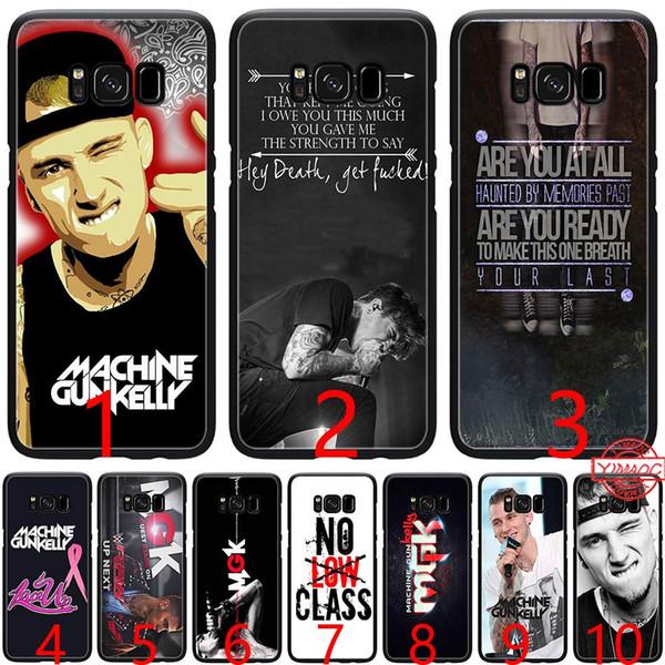 Mgk Machine Gun Kelly Lace Up Soft Silicone Black TPU Phone Case for Samsung A3 A5 2016 2017 A6 Plus 2018 Cover