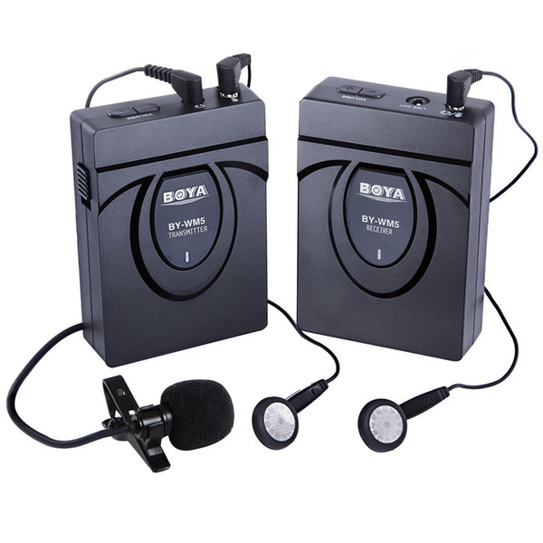 Speaker Wireless Portable Lapel Microphone For DSLR Camera Camcorder Audio Recorder Mic Portable Transmitter Set Microphones