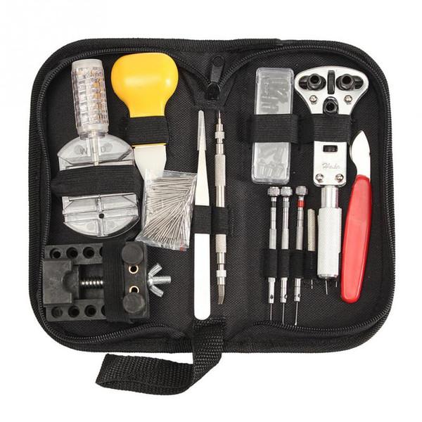 144Pcs Portable Watch Repair Tool Set Chromium Vanadium Steel Case Opener Tweezer Screwdriver Kit Watchmaker Case for Watchmaker