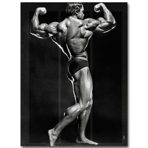 Arnold Schwarzenegger culturisme de motivation d'art de la soie d'affiche de remise en forme inspirée Image de décorations 007 Chambre