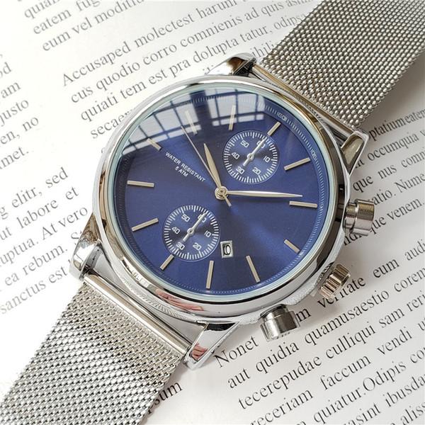 Yüksek kaliteli erkekler BOSS kol 43mm çelik Hasır Saatler erkek kuvars su geçirmez izle erkek tasarımcı saatler Lüks Erkek Saatler orologio