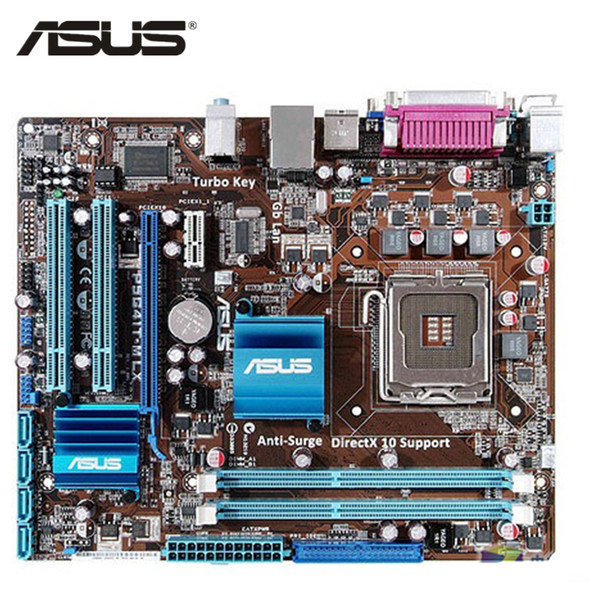 ASUS P5G41T-M LX Motherboard LGA 775 DDR3 8 GB Für Intel G41 P5G41T-M LX Desktop-Mainboard Systemplatine SATA II PCI-E X16 verwendet