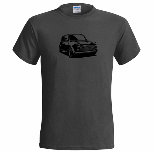 62c8ab491 Unofficial Stencil of a Mini Cooper Mens T Shirt Classic Car FASTHOUSE  Musically