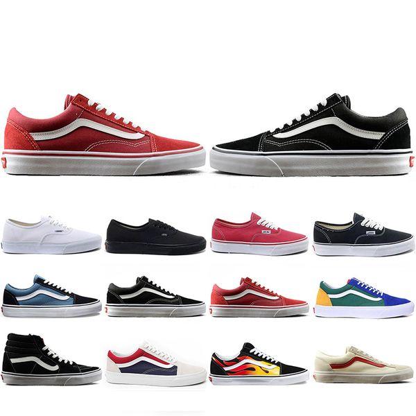 Vans Yeni Varış Marka Tuval Ayakkabı KAPALı TANRı DUVAR KORKUSU erkekler kadınlar Için eski Skool YACHT CLUB MARSHMALLOW moda paten Sneakers 36-44