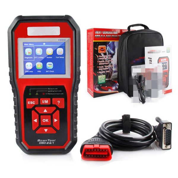 OBD2 EOBD Automotive Check Engine Erase Car Code Reader Diagnostic Scanner KW850 With Retail box UPS DHL Free Shipping