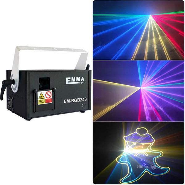 2 Watt RGB-Farblaserlicht, Hochleistungs-2-Watt-RGB-Animationslaserprojektor, DJ Disco Club Stage Christmas Show Laser