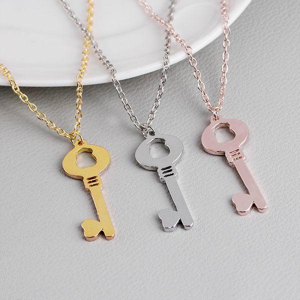 1 hueco oso del corazón del amor del corazón collar de la llave amor bloqueo único símbolo clave de amor collar collar dominante animal herramienta de desbloqueo de la joyería Por amante