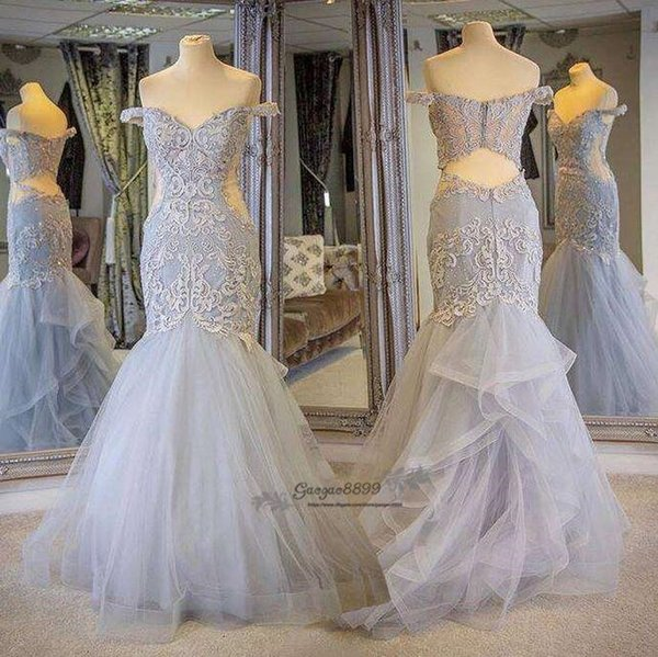 2019 New Design Mermaid Prom Dresses Appliques off the shoulder Formal Evening Dresses Luxury Fashion custom made Cocktail Party Gowns