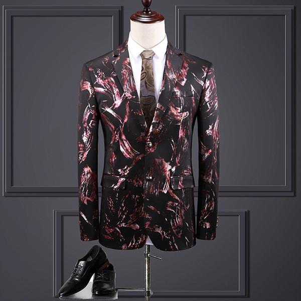 Chaquetas de los hombres ahora populares nuevos hombres delgados chaqueta de un solo pecho chaqueta informal de negocios vestido formal del banquete