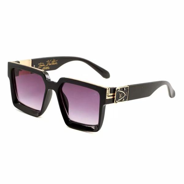 2019 yeni moda UV 400 Orijinal kutusu Koruma İtalya Marka Tasarımcısı Altın Zincir Tyga Medusa Güneş Gözlüğü Erkek Kadın Güneş gözlükleri kutusu