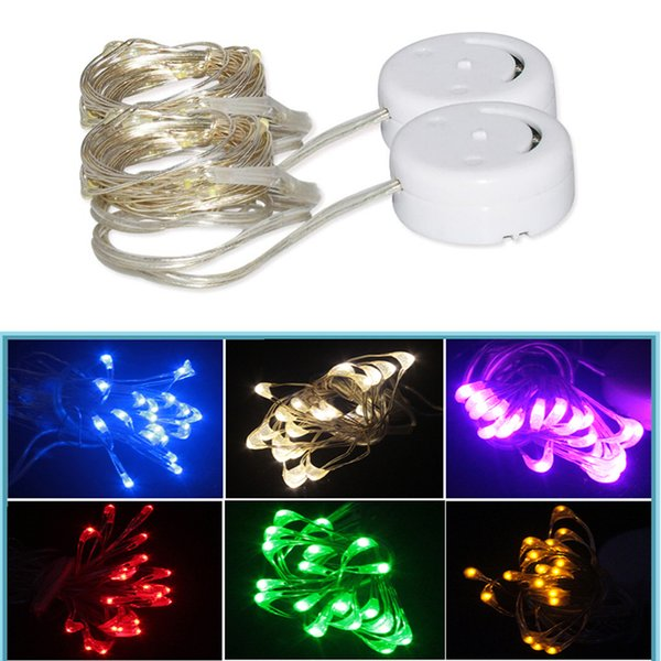 20 LED String Lights Copper Wire Fairy Light Battery operation Decoration Lamp Holiday Wedding Light for Christmas Glass
