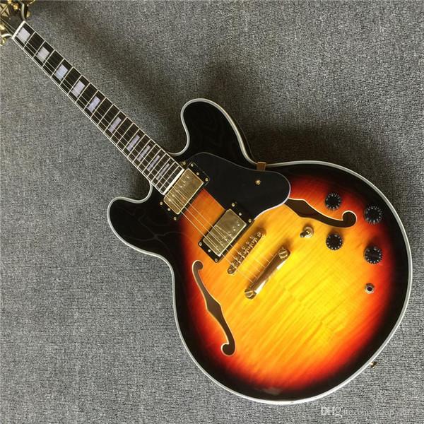 Free Shipping New Top Quality musical instrument TD CS Electric Guitar Semi-Hollow hai3 355 guitars