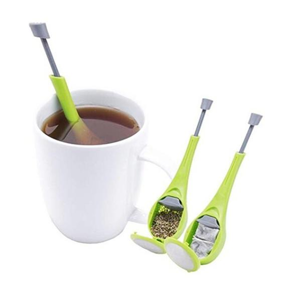 Чай Infuser встроенный плунжер здоровый интенсивный вкус многоразовый пакетик чая пластиковые Teacoffee фильтр мера вихрь крутой перемешать пресс