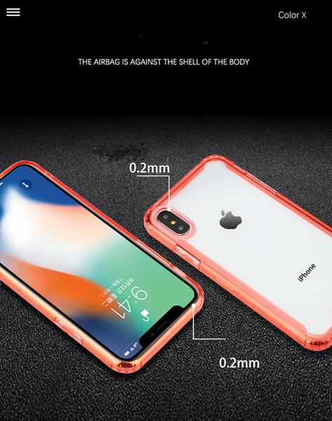 Clear TPU Acrylic Hybrid Shockproof Cell Phone Cases For Iphone Xs Samsung Galaxy S10 Plus A50 A20E Huawei P30 Pro Bumper Mobile Covers