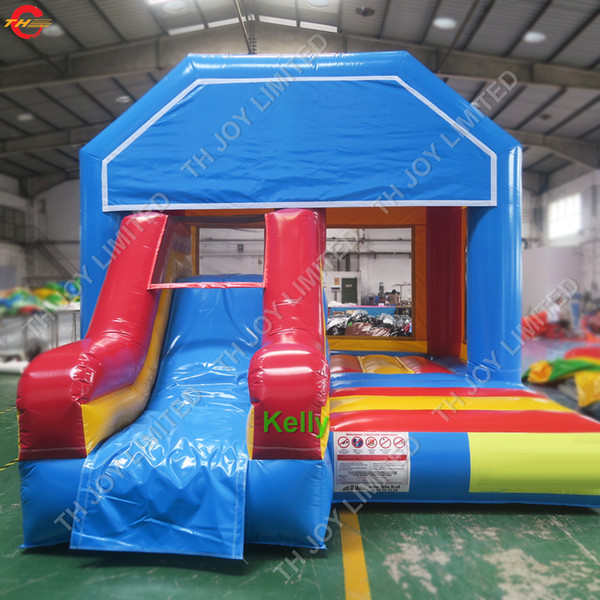 china cheap price inflatable slide jumper bouncer commercial inflatable jumping bouncy castle durable inflatable bounce house with slide