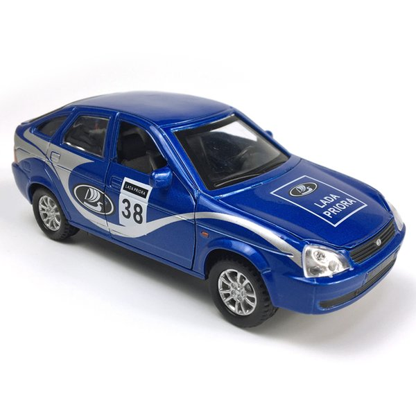 Lada Priora 1:32 Scale Alloy Cars Pull Back Diecast Model Vehicle Toy With Sound Light Collection Gift Toy Boys Kids J190525